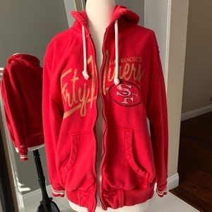 SAN FRANCISCO FORTY NINERS ZIP UP JACKET